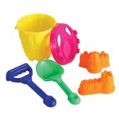 12 Units of BEACH BUCKET WITH 6 SAND TOOLS - Beach Toys
