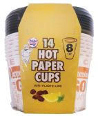 36 Units of PRIDE HOT PAPER CUP 8 OUNCES 14 CUPS + 14 LIDS - Disposable Cups