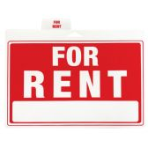 48 Units of PLASTIC SIGN FOR RENT 12 X 9 INCHES - Signs & Flags