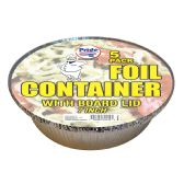 36 Units of FOIL CONTAINER 7 INCHES WITH BOARD LID 5 PACK - Storage Holders and Organizers