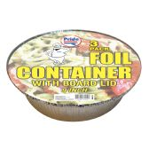 36 Units of FOIL CONTAINER 9 INCHES WITH BOARD LID3 PACK - Storage Holders and Organizers