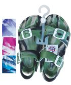 24 Units of UNISEX SANDALS ADJUSTABLE STRAPS TODDLER ASSORTED SIZES 5-10 AND COLORS