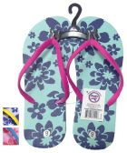 24 Units of LADIES FLIP FLOP FLOWERS ASSORTED SIZES 5-10 AND COLORS