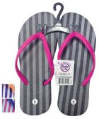 24 Units of PRIDE LADIES FLIP FLOP STRIPED ASSORTED SIZES 5-10 AND COLORS