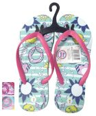 24 Units of GIRLS FLIP FLOP OCEAN ASSORTED SIZES 11-3 AND COLORS