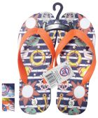 24 Units of BOYS FLIP FLOP OCEAN ASSORTED SIZES 11-3 AND COLORS