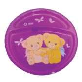 24 Units of DIVIDED PLATE FOR CHILDREN 8 INCH DIAMETER