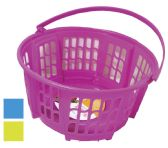 12 Units of STORAGE BASKET WITH HANDLE ROUND 10X5 INCHES ASSORTED COLORS