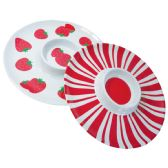 12 Units of MELAMINE DIP TRAY ROUND 12 INCHES ASSORTED DESIGNS