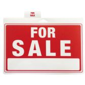 48 Units of PLASTIC SIGN FOR SALE 12 X 9 INCHES