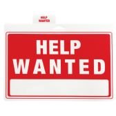 48 Units of PLASTIC SIGN HELP WANTED 12 X 9 INCHES - Signs & Flags