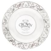 12 Units of CROWN DINNERWARE DINNER PLATE 7 INCH 10 PACK PLATINUM COLLECTION - Disposable Plates & Bowls