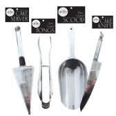36 Units of CROWN DINNERWARE SERVING UTENSIL SILVER COATED ASSORTED - Plastic Serving Ware
