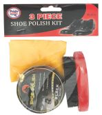 36 Units of PRIDE SHOE POLISH SET INCLUDES POLISHBRUSH AND BUFFER - Footwear Accessories
