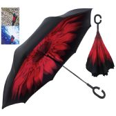 12 Units of INVERTED UMBRELLA DOUBLE LAYER 41 INCH ASSORTED DESIGNS - Umbrella