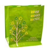 48 Units of REUSABLE BAG WOVEN PLASTIC 13.75X15X6.75 INCHES - Bags Of All Types