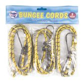 36 Units of BUNGEE CORD 3 PACK 243648 INCHES - Bungee Cords