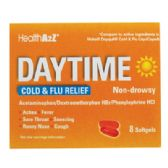 24 Units of DAYTIME COLDANDFLU 8 COUNT SOFTGELS NON- DROWSY COMPARE TO VICKS DAYQUIL - Health / Beauty