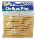 48 Units of SIMPLY FOR HOME WOODEN CLOTHES - Clothes Pins