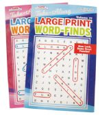 72 Units of WORD FIND LARGE PRINT 114 PAGES ASSORTED VOLUMES MADE IN USA PREPRICED $3.95 - Coloring Books