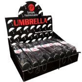 24 Units of SIMPLY FASHIONABLE MANUAL UMBR - Umbrellas & Rain Gear