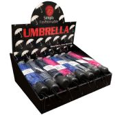 24 Units of SIMPLY FASHIONABLE MANUAL UMBRELLA - Umbrellas & Rain Gear