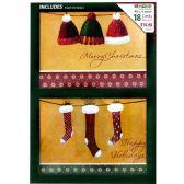 18 Units of XMAS BOX CARDS 5X7 18 ASTD G - Christmas Novelties