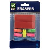 36 Units of CHECK PLUS ERASERS 9 PK - Erasers
