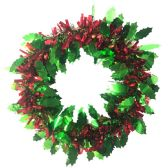 36 Units of PARTY SOLUTIONS FOIL WREATH 12 - Christmas Decorations