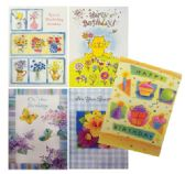 144 Units of BIRTHDAY CARDS 10 PACK WITH ENVELOPES