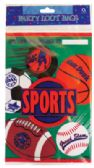 24 Units of PARTY LOOT BAG 8 COUNT SPORT - Bags Of All Types