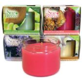 72 Units of STAR BREEZE SCENTED CANDLE 3 OZ SHELF DISPLAY (FRENCH VANILLA/ GREEN APPLE MELON/ LAVENDER FIELDS/ POMEGRANATE/ PEAR)