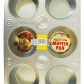 48 Units of MUFFIN PAN 6 CUPS 10.5 X 7 INCH METAL - Frying Pans and Baking Pans