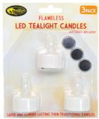 48 Units of YELLOW DRAGON LED TEALIGHT 3 PACK WITH 3 BATTERIES FLICKERING - Hardware Products