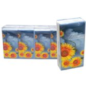 384 Units of POCKET TISSUE 8 PACK 15-2 PLY SHEETS SUNFLOWER DESIGN MUST BE BROKEN