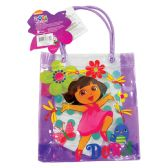 72 Units of DORA TOTE BAG WITH HANDLES 8X7 HEAVY PLASTIC - Tote Bags & Slings