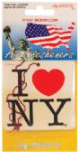 72 Units of I LOVE NEW YORK CAR AIR FRESHENER - AUTO CLEANING SUPPLIES