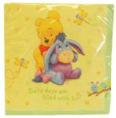 48 Units of DISNEY POOH NAPKINS 16 COUNT BABY DAYS DESIGN