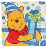 144 Units of DISNEY POOH NAPKINS 16 COUNT FIRST BIRTHDAY BLUE