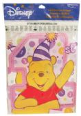 144 Units of DISNEY POOH BANNER 5 X 96 INCH 1ST BIRTHDAY FOR GIRLS