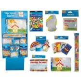 160 Units of CHRISTIAN SCHOOL STATIONERY SUPPLY CENTER DISPLAY - WALL BANNERS/CERTIFICATES/WALL BORDERS/PAPER CUT-OUTS/REWARD STICKERS/DECORATIONS/PADS - STICKERS