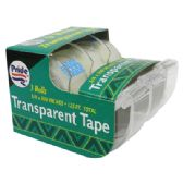 48 Units of CLEAR TAPE 3 PACK COUNTER DISPLAY 3/4x500 INCH