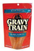 12 Units of GRAVY TRAIN DOG TREAT 3 OZ JERKY STRIPS - Pet Chew Sticks and Rawhide