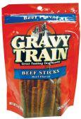12 Units of GRAVY TRAIN DOG TREAT 3 OZ BEEF STICKS - Pet Chew Sticks and Rawhide
