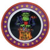 48 Units of HALLOWEEN MELAMINE PLATE ROUND ASSORTED 12 INCH ASSORTED - Halloween & Thanksgiving