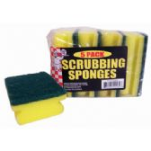 48 Units of SCRUBBING SPONGE 5 PACK 4 X 3 INCHES IN DISPLAY
