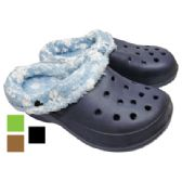 36 Units of BOY' S FUR CLOGS ASSORTED SIZES ASSORTED PRINTED DESIGNS AND COLORS