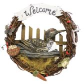 16 Units of WOODEN DUCK WELCOME WREATH 13 INCH DIAMETER