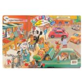 48 Units of CHILDREN'S ACTIVITY PLACEMAT 12 X 17 INCH DRY ERASE SHOPPING CENTER DESIGN