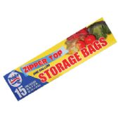 48 Units of STORAGE BAGS 15 CT 1 GALLON ZIP TOP - Bags Of All Types